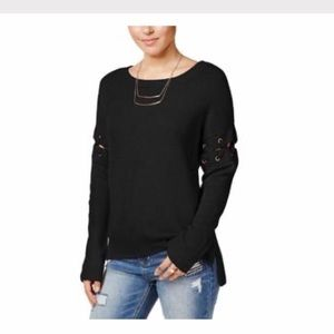 Crave famous knit sweater stitch sleeve size M NWT